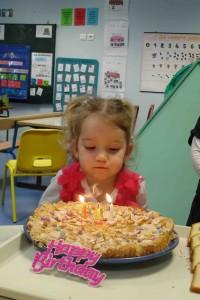 Aëlynn a soufflé ses 3 bougies