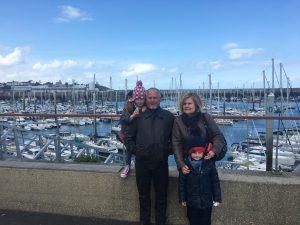 Dimanche restaurant et promenade à St Quay Portrieux avec Papy serge et Mamie Fabienne